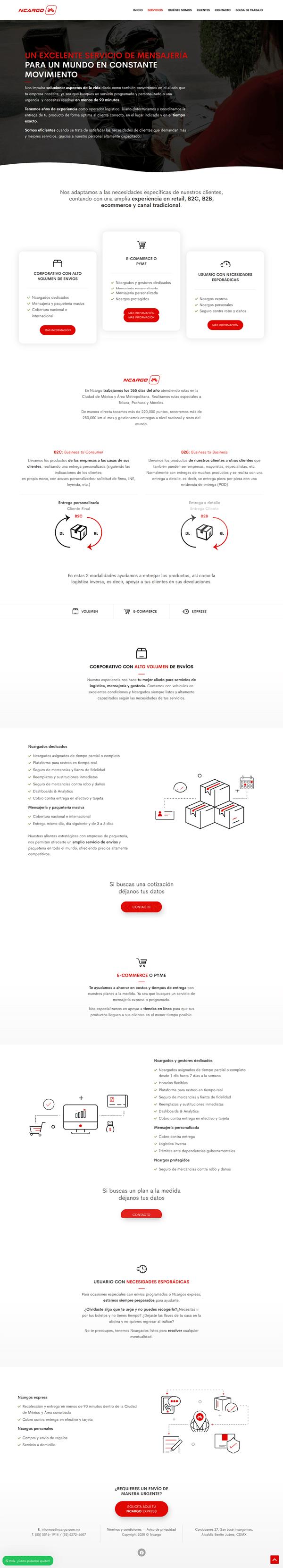 Caso de éxito desarrollo web - Ncargo 3
