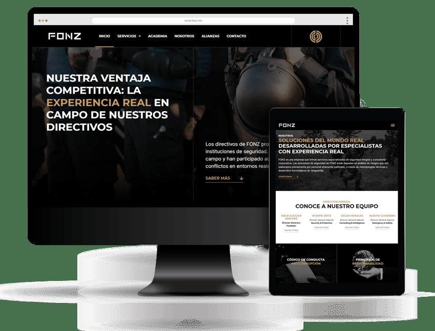 Diseño Web FONZ