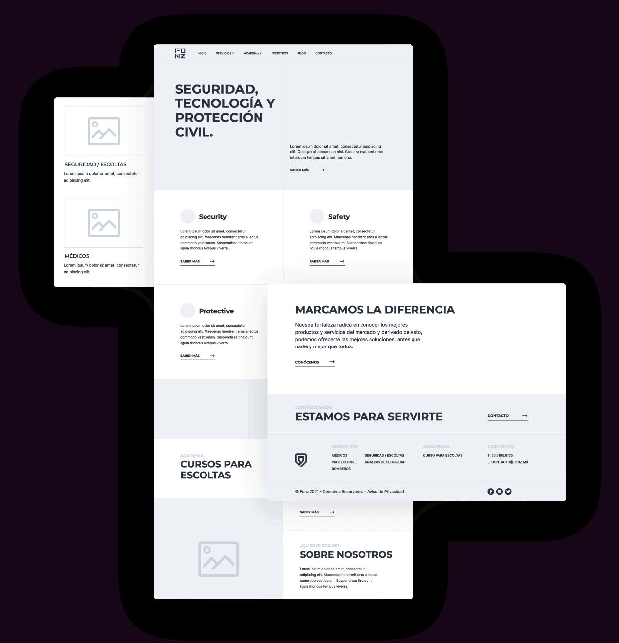 Wireframes Diseño Web